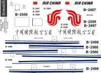 Boeing 767 Air China decal 1\144