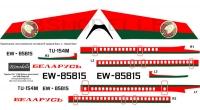 Tupolev Tu-154 Belarus Government decal 1\100
