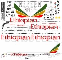 Boeing 757 Ethiopean decal 1\144