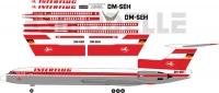 Tupolev Tu-154 Interflug decal 1\100