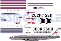 Tupolev Tu-114 Aeroflot decal 1\100