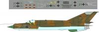 Mikoyan Gurevitch MiG-21 Luftwaffe decal 1\48