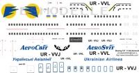 Boeing 737 Aerosvit decal 1\144