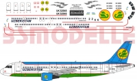 Airbus A320 Uzbekistan Airlines decal 1\125