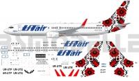 Boeing 737 -800 UT Air Ukraine decal 1\144