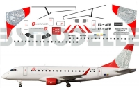 Embraer 170 Lituanica decal 1\144