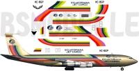 Boeing 707 Ecuatoriana Cargo decal 1\144
