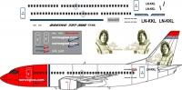 Boeing 737-300 Norwegian decal 1\144
