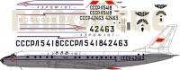 Tupolev Tu-104 Aeroflot 60-th decal 1\144