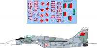 Mikoyan Gurevitch MiG-29 Belarus AF decal 1\48