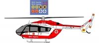 Eurocopter EC-145 Ukraine resque service decal 1\48