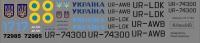 Antonov An-72P, An-74TK300 Ukraine government decal 1\144
