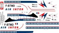 Dassault Mercure Air Inter decal 1\100