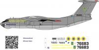 Ilyushin Il-76MD Ukrainian Armed Forces decal 1\144