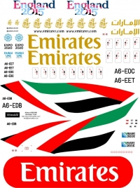 Airbus A-380 Emirates decal 1\144