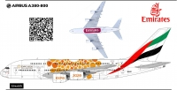 Airbus A-380 Emirates Expo 2020 Ellow Decal 1\144
