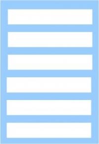 White rectangle multipurpose decal set 6Х55X10mm