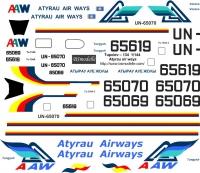 Tupolev Tu-134 Atyrau Airways decal 1\144