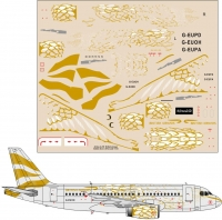 Airbus A-319 British Airways Golden Dove decal 1\144