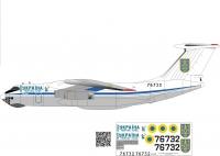 Ilyushin Il-76TD Ukrainian AF  76732 decal 1\144