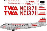 Douglas DC-3 TWA decal 1\72