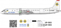 Ilyushin Il-18d Lviv Airlines decal, scale 1\144