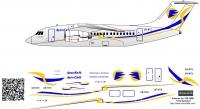 Antonov An-148 Aerosvit decal 1\144