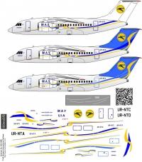 Antonov An-148 Ukraine International Airlines decal 1\144