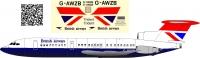 HS121 Trident British Airways decal 1\100