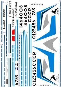 Antonov An-24 Aeroflot 60th 1\144 decal