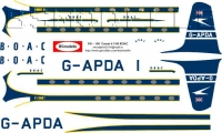 DH-106 Comet 4 BOAC decal 1\96