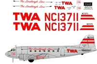 Douglas DC-3 TWA Lindbergh Line decal scale 1\48