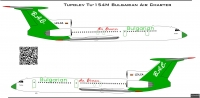 Tupolev Tu-154 Bulgarian Air Charter decal 1\100