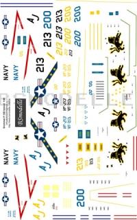 Grumman F-14Tomcat US Navy decal 1\48