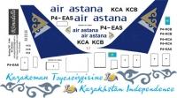 Boeing 767 Air Astana decal 1\144