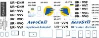 Boeing 767 Aerosvit  decal 1\144