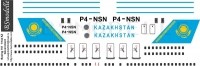 Boeing 757 Kazakhstan government decal 1\144