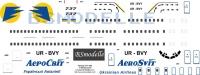 Boeing 737 Aerosvit decal 1\100