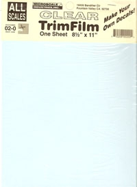 Microscale Trim Film white