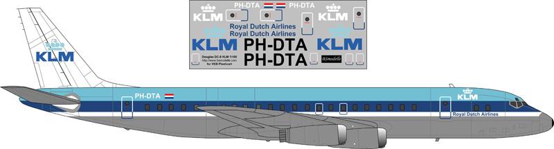 Douglas DC-8 Tai Decalque 1 \ 100