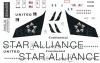 Boeing 757 Star alliance decal 1\144