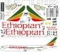 Boeing 767 Ethiopean decal 1\144