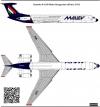 Ilyushin Il-62M Malev decal 1\144