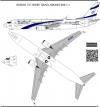 Boeing 737- 900, El Al Israel Airlines decal 1\144