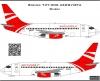 Boeing 737- 200, Aerovista decal 1\144