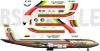 Boeing 707 Ecuatoriana Cargo decal 1\100
