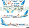 Boeing 737 -800 Fly Dubai decal 1\144