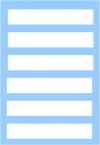 White rectangle multipurpose decal set 6Х55X10mm