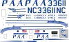 Douglas DC-3 PAA decal 1\72