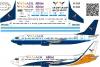 Boeing 737 -400 Yan Air decal 1/144
